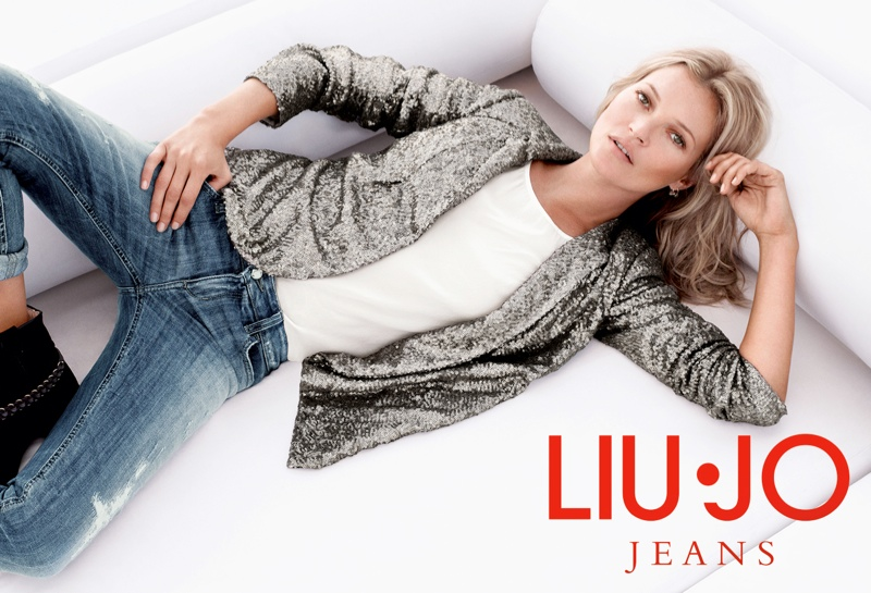 kate moss liu jo spring 2014 campaign10 Kate Moss Gets Casual for Liu Jos Spring 2014 Campaign