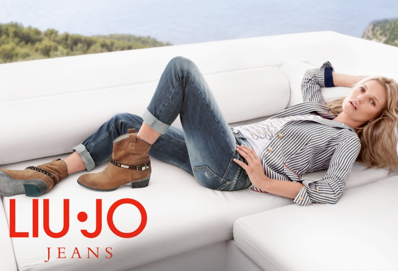 kate moss liu jo spring 2014 campaign12 Kate Moss Gets Casual for Liu Jos Spring 2014 Campaign