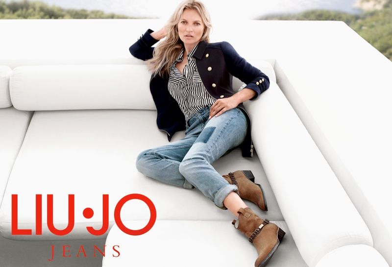 kate moss liu jo spring 2014 campaign13 Kate Moss Gets Casual for Liu Jos Spring 2014 Campaign