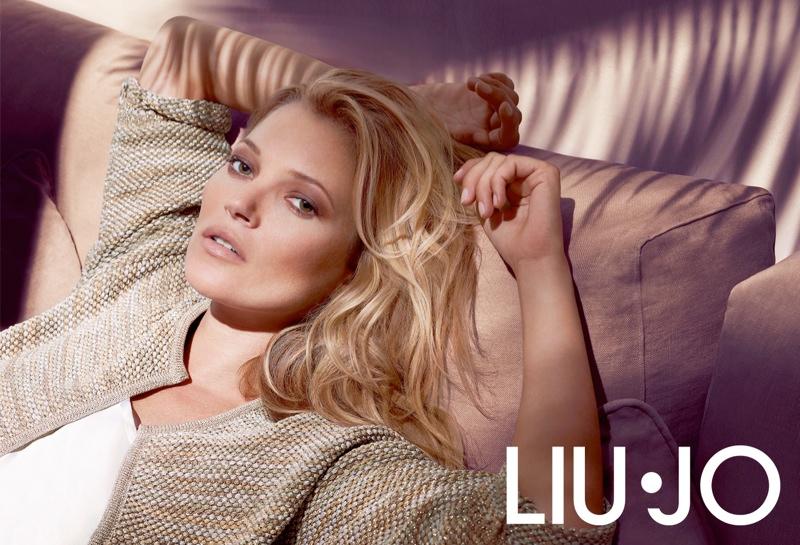 kate moss liu jo spring 2014 campaign2 Kate Moss Gets Casual for Liu Jos Spring 2014 Campaign