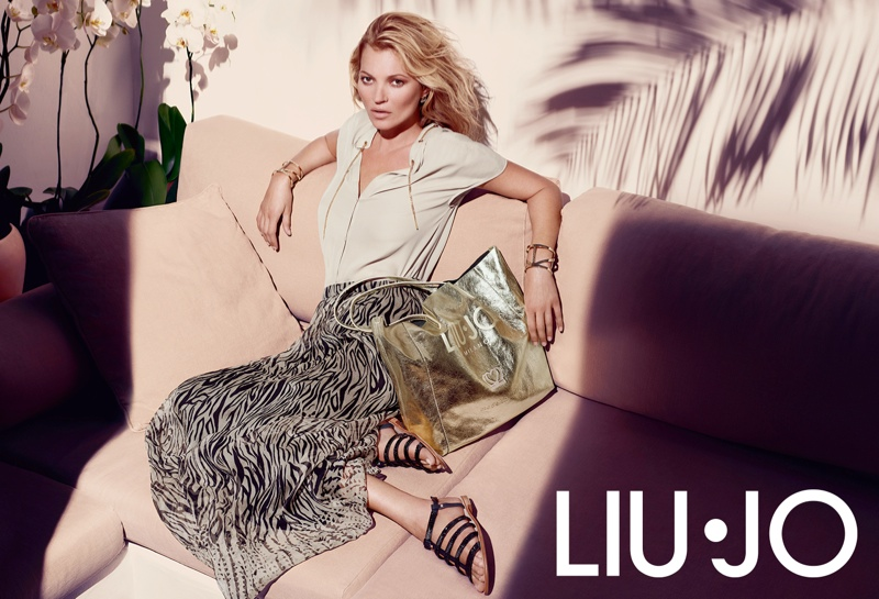 Kate Moss Gets Casual for Liu Jo's Spring 2014 Campaign