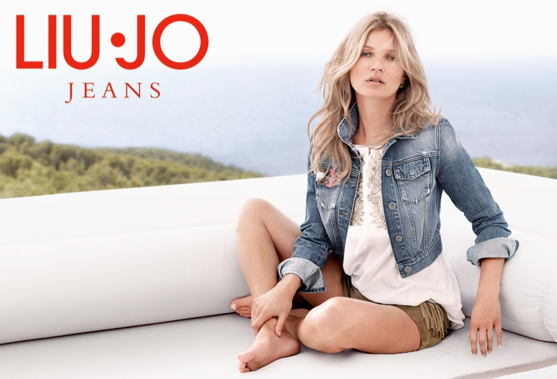 kate moss liu jo spring 2014 campaign8 Kate Moss Gets Casual for Liu Jos Spring 2014 Campaign