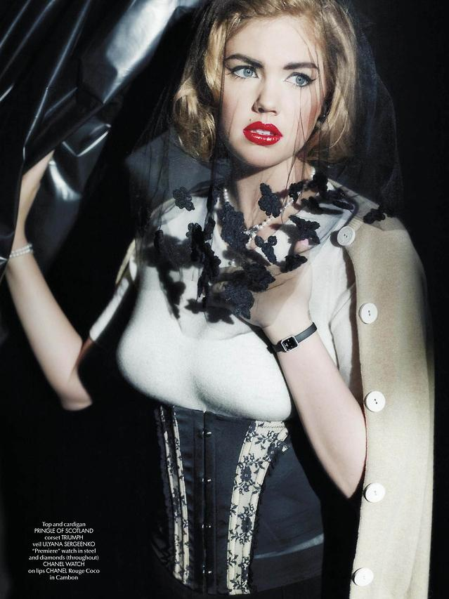 kate upton karl lagerfeld4 Kate Upton Covers Up for Karl Lagerfeld in CR Fashion Book