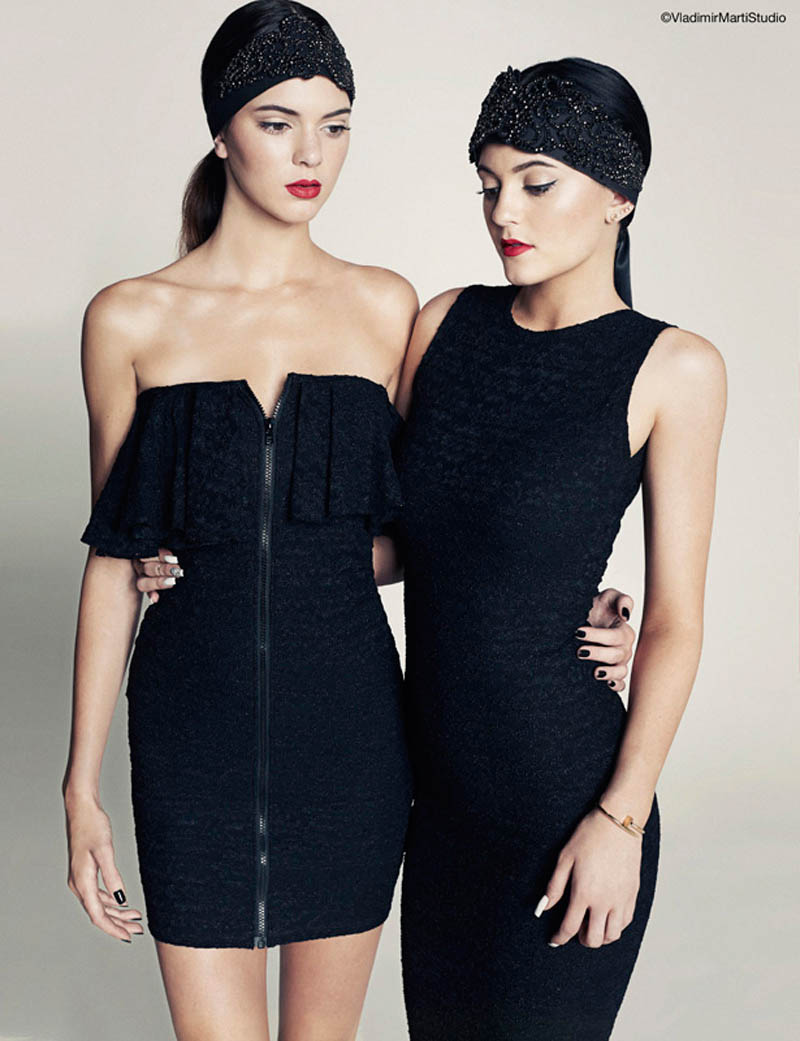 kendall kylie jenner8 Sister Act: Kendall + Kylie Jenner Pose for Marie Claire Latin America by Vladimir Marti