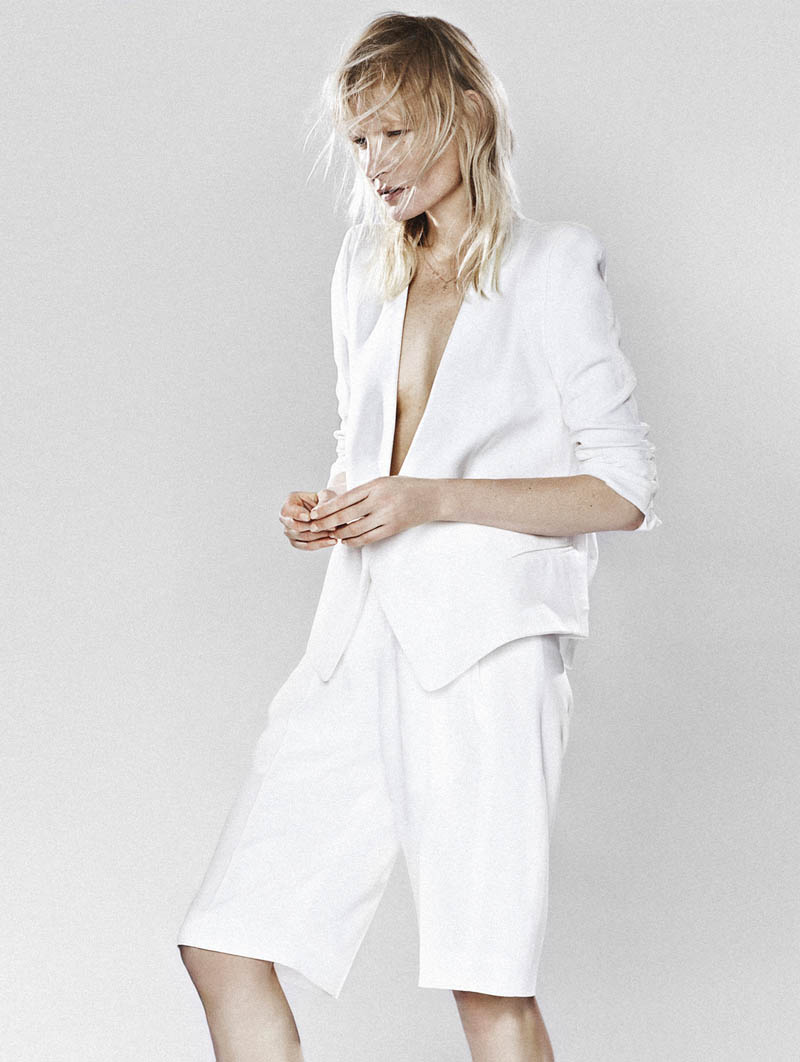 kirsten owen model3 Kirsten Owen Keeps it Simple for Mixt(e) S/S 2014 by Emma Tempest