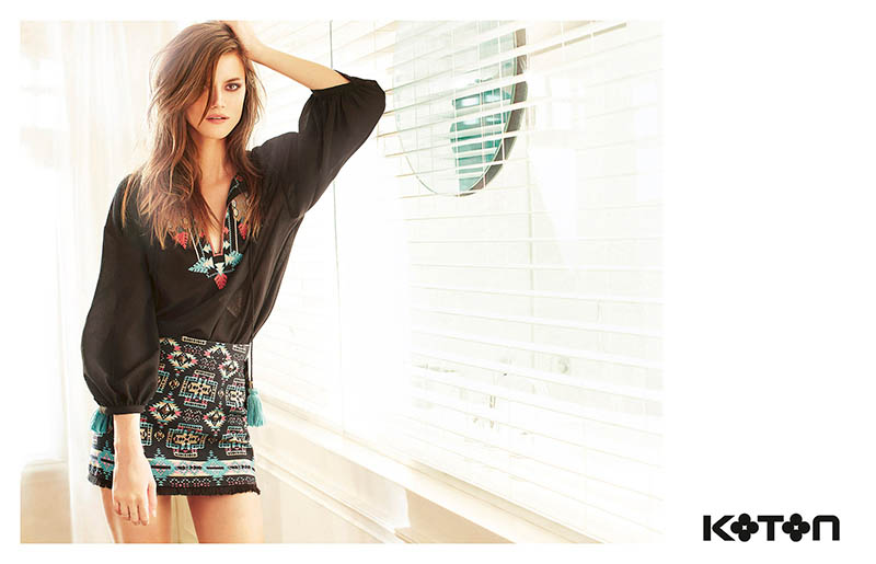koton spring 2014 campaign2 Kasia Struss Gets Sunny for Koton Spring 2014 Ads by Emre Dogru