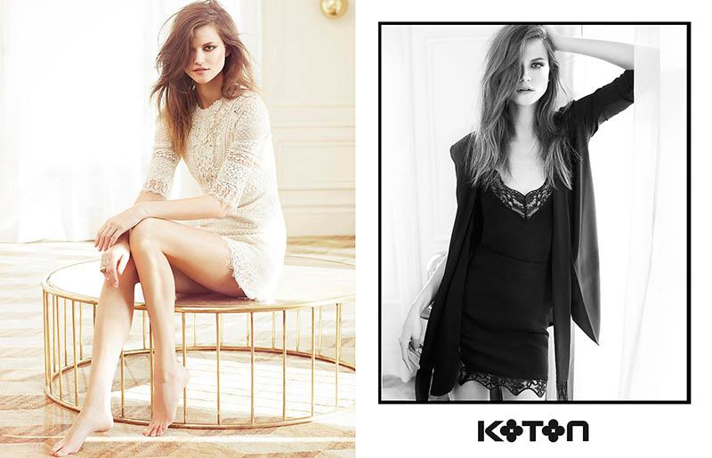 koton spring 2014 campaign4 Kasia Struss Gets Sunny for Koton Spring 2014 Ads by Emre Dogru