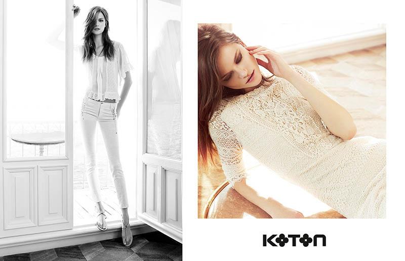 koton spring 2014 campaign6 Kasia Struss Gets Sunny for Koton Spring 2014 Ads by Emre Dogru