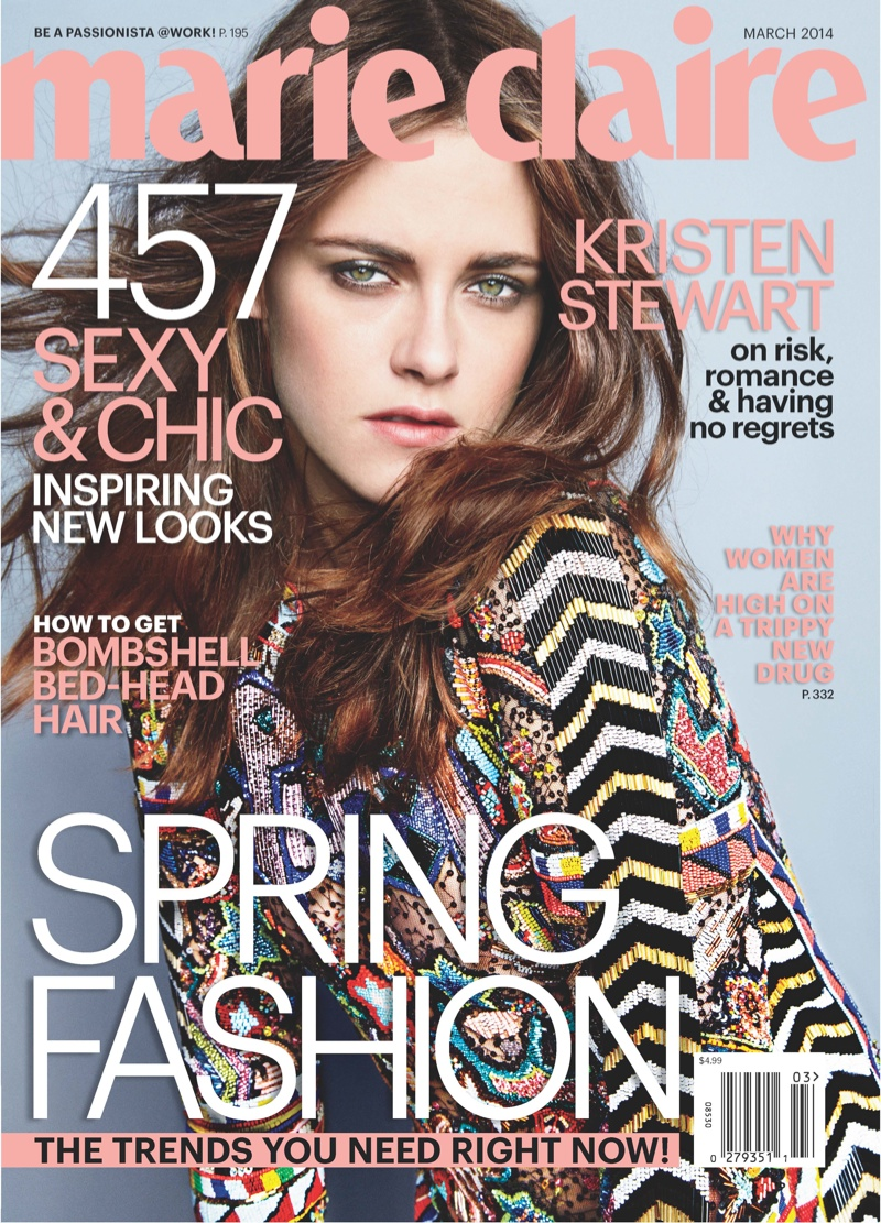 kristen stewart marie claire1 Kristen Stewart Covers Marie Claire, Tells People to Judge Away