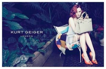 Karen Elson Tapped for Kurt Geiger Spring/Summer 2014 Campaign