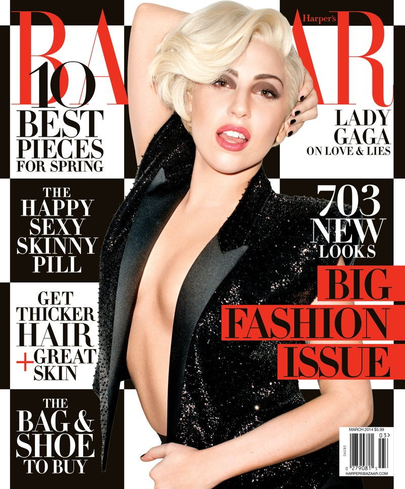 lady gaga harpers bazaar1 Lady Gaga Covers Harpers Bazaar, Talks Future of Fashion
