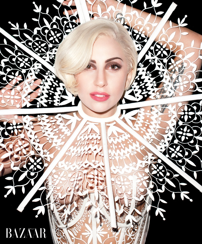 lady gaga harpers bazaar2 Lady Gaga Covers Harpers Bazaar, Talks Future of Fashion