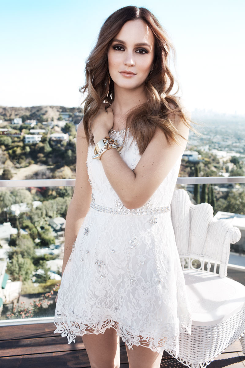 leighton meester nelly shoot1 Leighton Meester Fronts Spring 2014 Campaign for Nelly.com