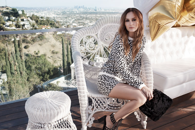 leighton meester nelly shoot10 Leighton Meester Fronts Spring 2014 Campaign for Nelly.com
