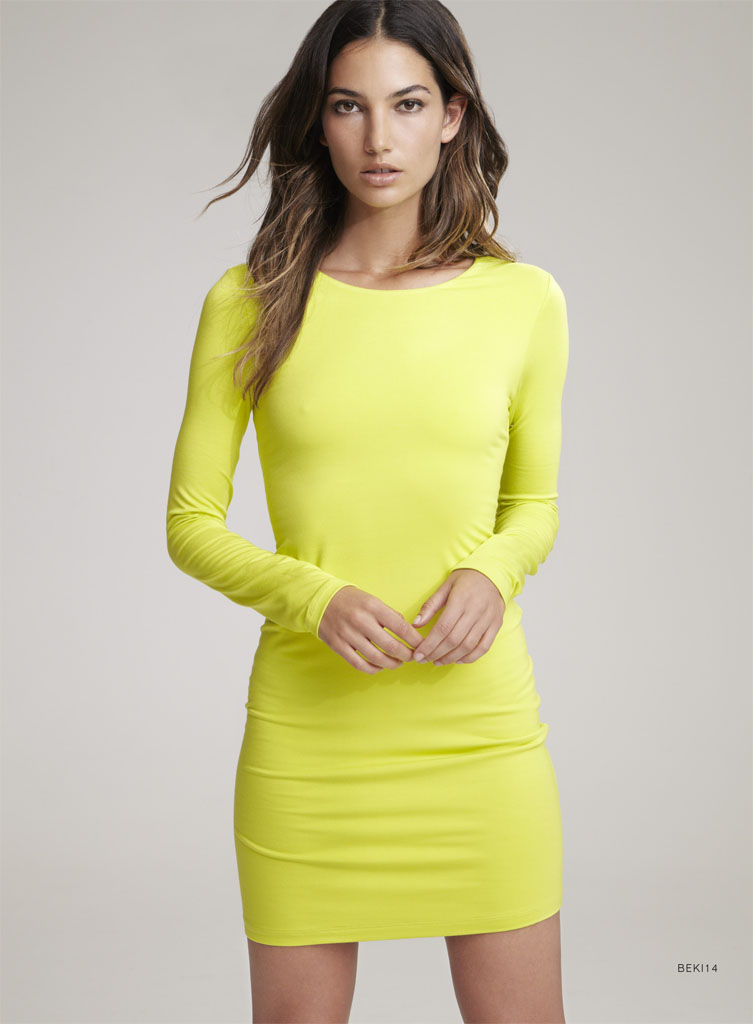 Lily Aldridge Teams Up with Velvet for Spring 2014 Collection