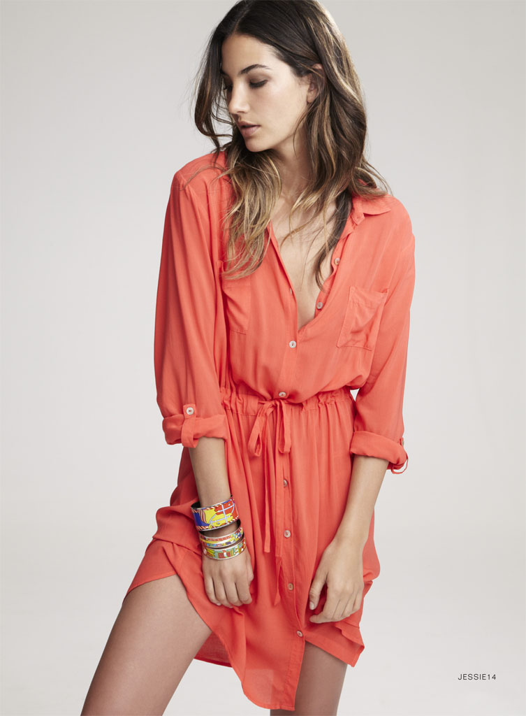lily velvet lookbook18 Lily Aldridge Teams Up with Velvet for Spring 2014 Collection