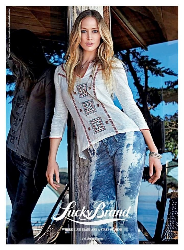 lucky brand spring 2014 campaign1 Raquel Zimmermann Fronts Lucky Brand Spring 2014 Campaign