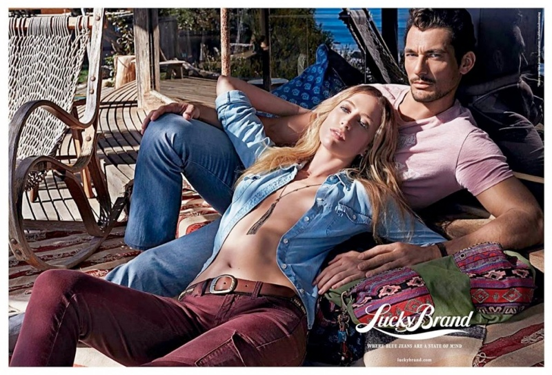lucky brand spring 2014 campaign2 Raquel Zimmermann Fronts Lucky Brand Spring 2014 Campaign