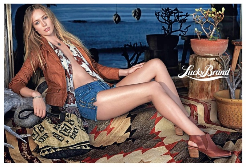 lucky brand spring 2014 campaign3 Raquel Zimmermann Fronts Lucky Brand Spring 2014 Campaign
