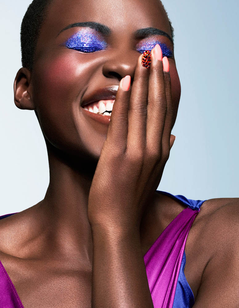 lupita nyongo makeup3 Lupita Nyongo Shines in Spring Makeup Looks for Essence