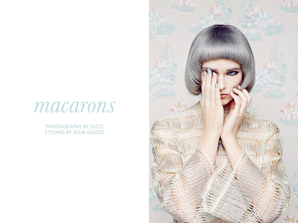 """Leah, Bryden, Jessica, Monica + Katy by JUCO in """"Macarons"""" for Fashion Gone Rogue"""