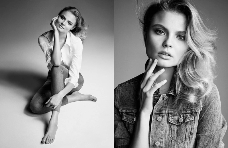 magdalena gina tricot1 Magdalena Frackowiak Dons Denim for Gina Tricot by Hasse Nielsen
