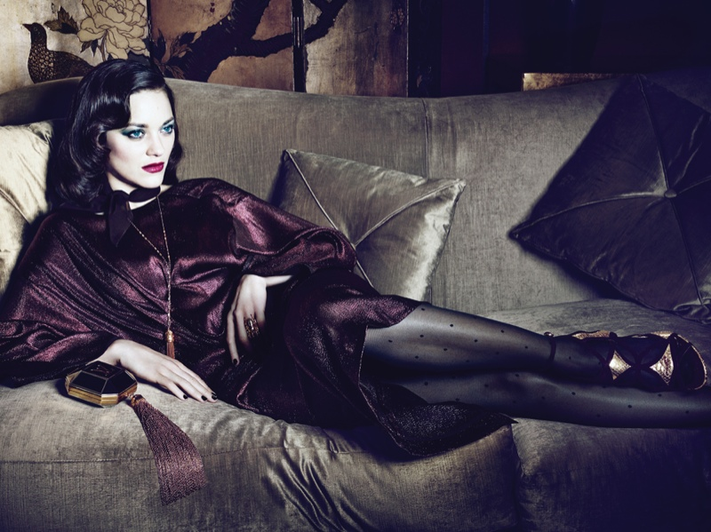 Dark Glamour: Marion Cotillard Poses for Seductive Interview Shoot
