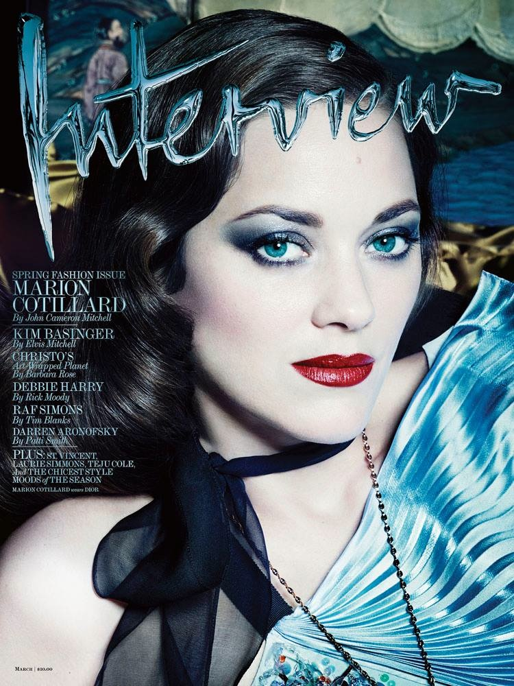 marion cotillard interview6 Dark Glamour: Marion Cotillard Poses for Seductive Interview Shoot