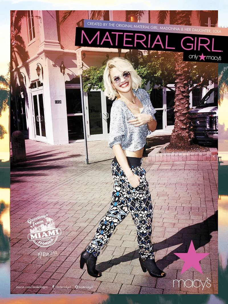 material girl spring 2014 campaign rita ora4 Rita Ora Takes Miami for Material Girls Spring 2014 Ads