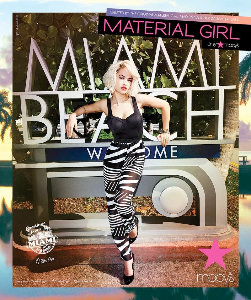 material girl spring 2014 campaign rita ora6 Rita Ora Takes Miami for Material Girls Spring 2014 Ads