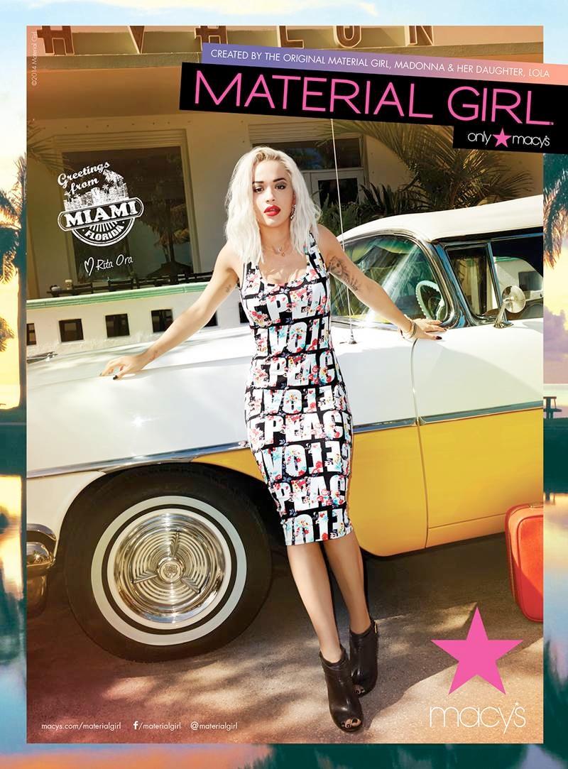 material girl spring 2014 campaign rita ora7 Rita Ora Takes Miami for Material Girls Spring 2014 Ads