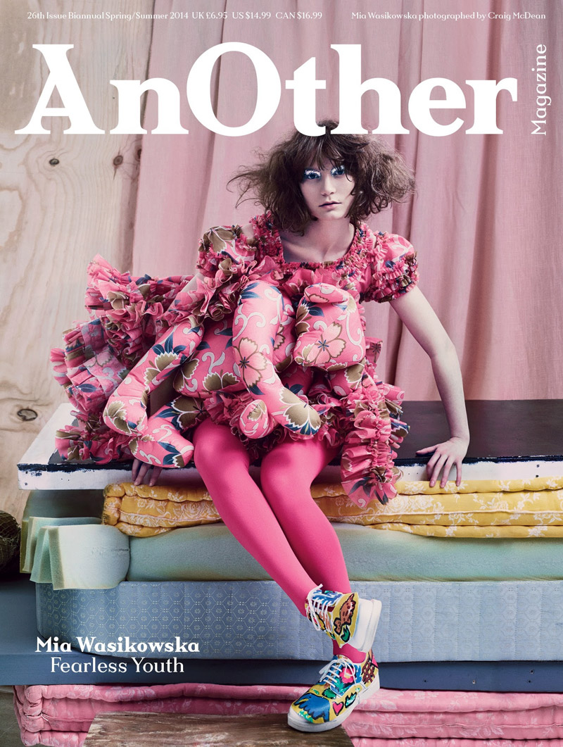 mia wasikowska another4 Mia Wasikowska Thinks Pink in AnOther Magazine S/S 2014