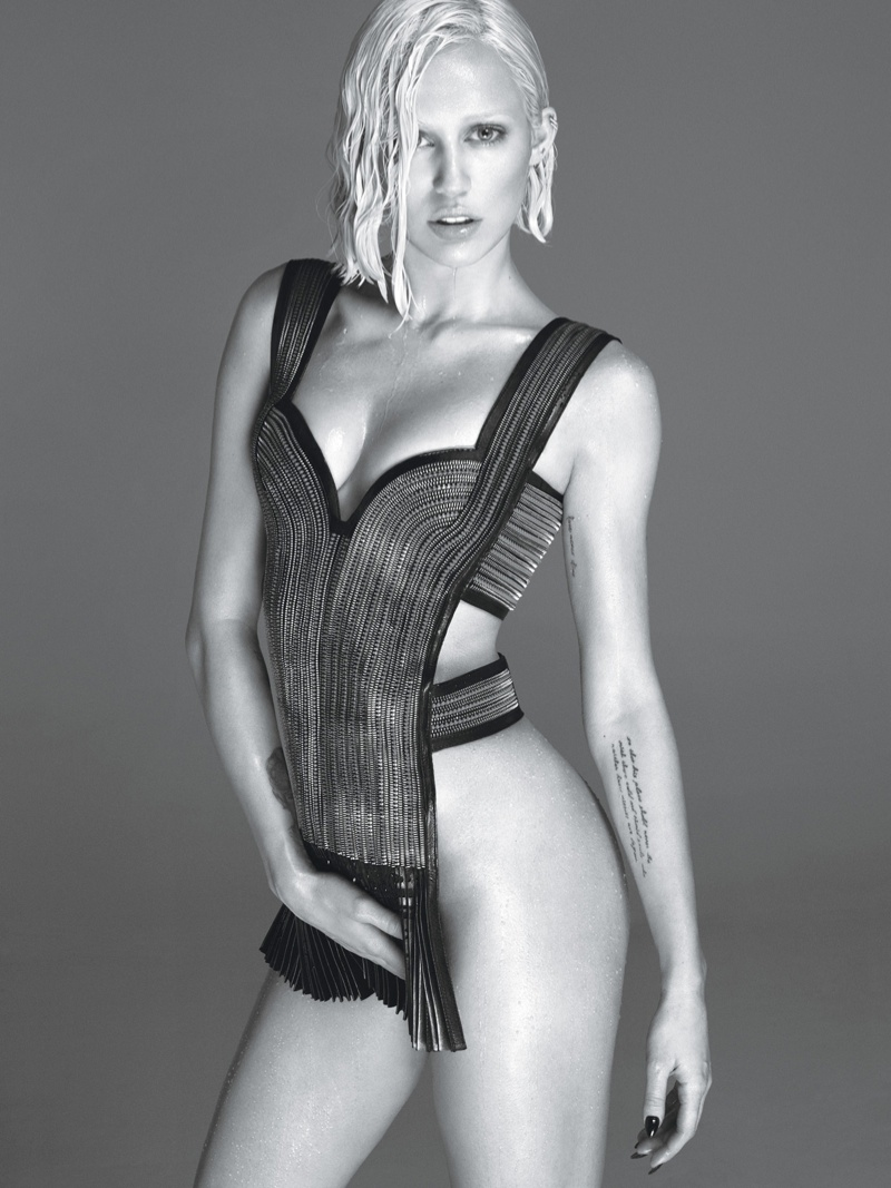 miley cyrus w magazine2 Miley Cyrus Strips for W Magazine March 2014 Cover Shoot
