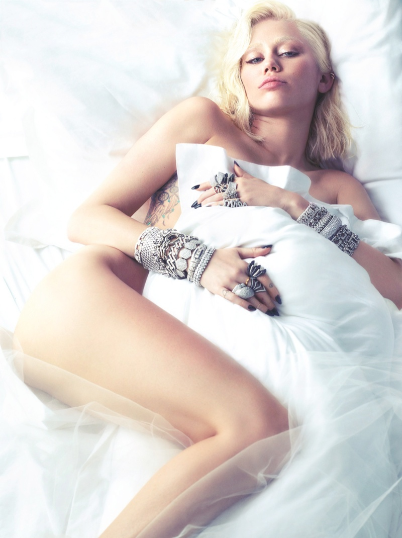 miley cyrus w magazine4 Miley Cyrus Strips for W Magazine March 2014 Cover Shoot