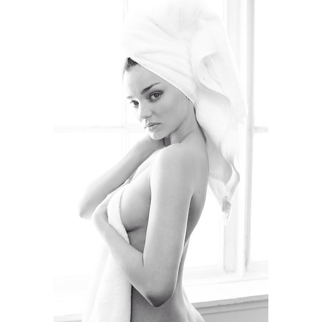 miranda towel Miranda Kerr, Kate Upton + More Pose for Mario Testino in Towel Series