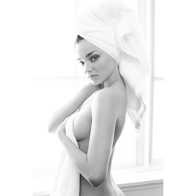 Miranda Kerr models in a sexy snap. Photo: Instagram/mariotestino