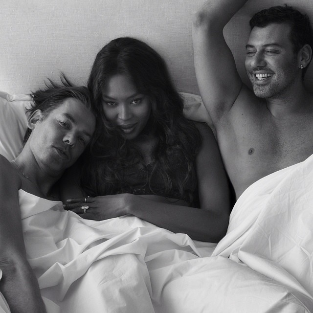 Naomi Campbell pictured with Mert & Marcus