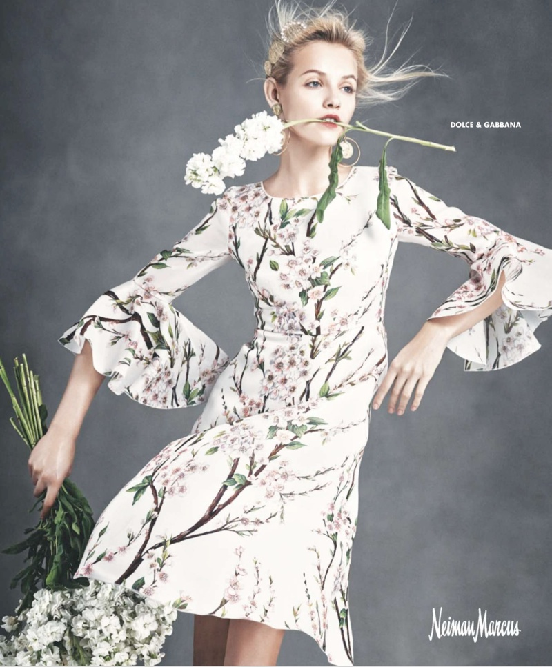 "Ginta Lapina & Fei Fei Sun Star in Neiman Marcus ""Art of Fashion"" Spring 2014 Ads"