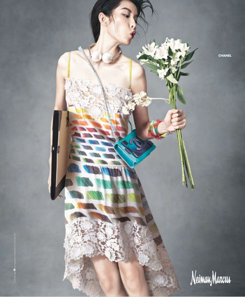 neiman marcus art fashion spring 2014 14 Ginta Lapina & Fei Fei Sun Star in Neiman Marcus Art of Fashion Spring 2014 Ads
