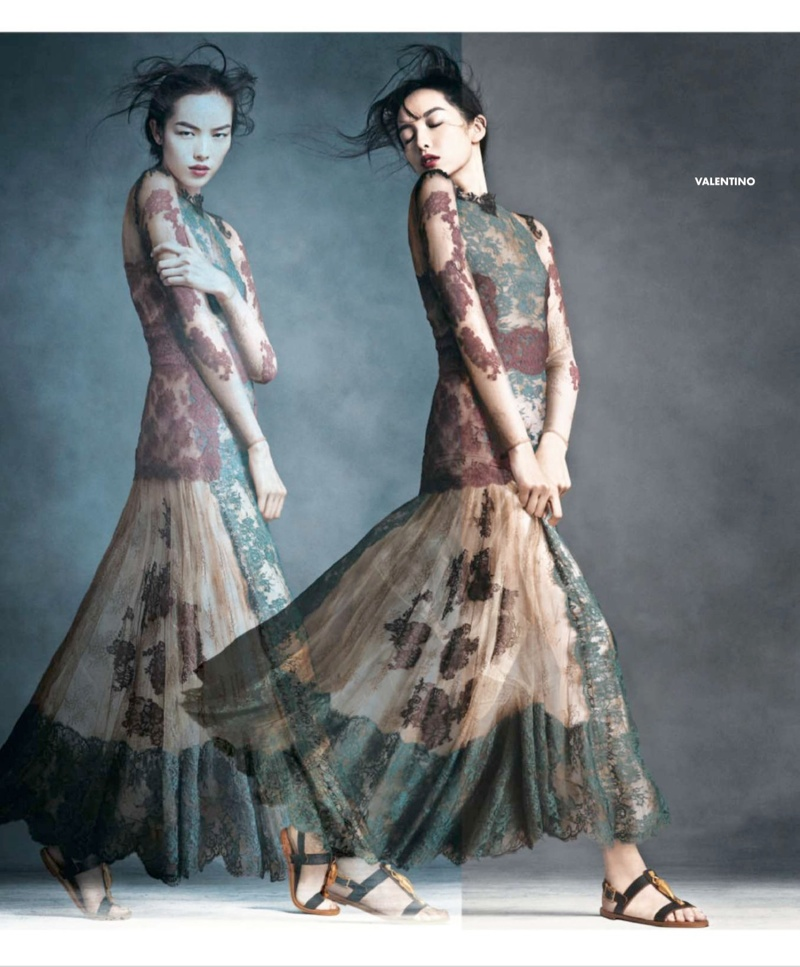 neiman marcus art fashion spring 2014 8 Ginta Lapina & Fei Fei Sun Star in Neiman Marcus Art of Fashion Spring 2014 Ads