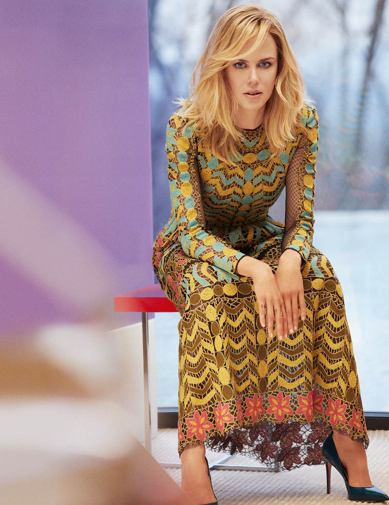 nicole kidman photo shoot7 Spring Fling: Nicole Kidman Wears Pastels for InStyle by Greg Kadel