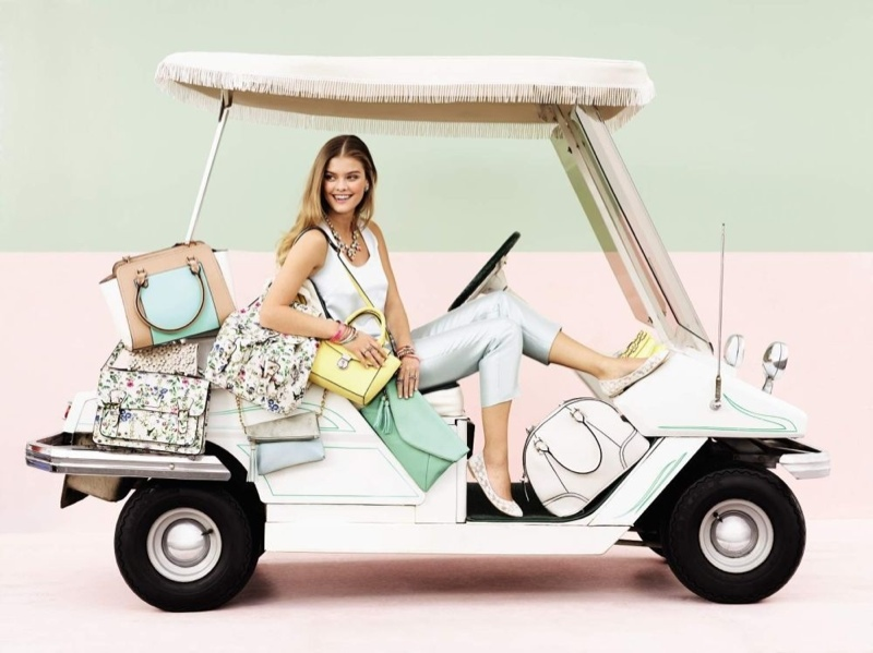 nina agdal accessorize spring10 Nina Agdal Hits the Beach for Accessorizes Spring 2014 Campaign