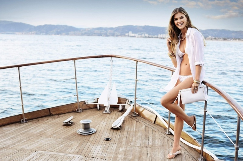 Nina Agdal Hits the Beach for Accessorize's Spring 2014 Campaign