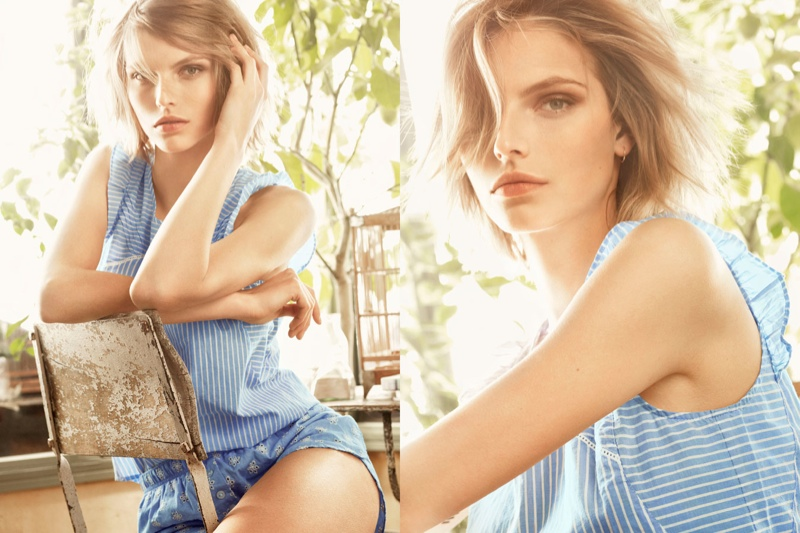 Karlina Caune Lounges in Oysho Spring/Summer 2014 Campaign