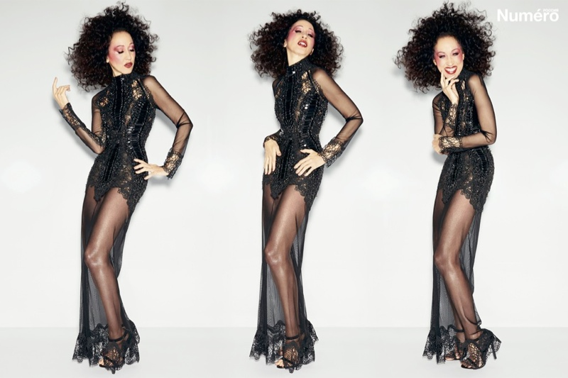 pat cleveland tom ford2 Legendary Pat Cleveland is Smoking Hot in Numero Russia, Shot by Tom Ford