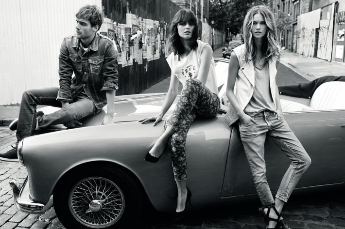 pepe jeans spring 2014 campaign9 Behati Prinsloo Stars in Pepe Jeans London Spring/Summer 2014 Campaign