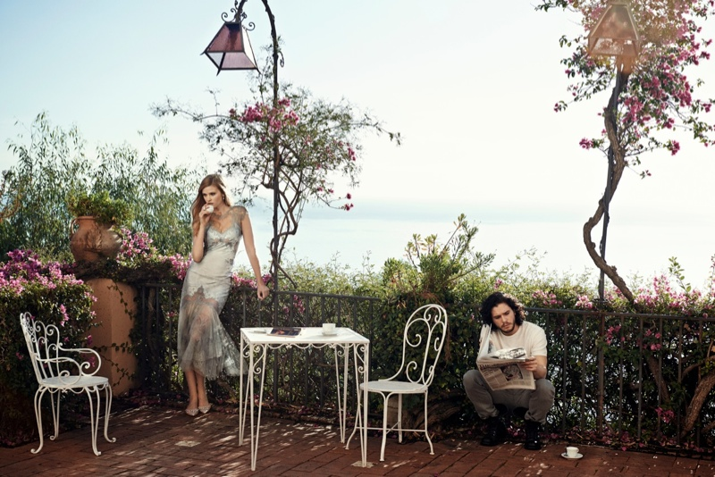 peter lindbergh photographs1 Lara Stone + Kit Harington Cozy Up for Vogue Spread by Peter Lindbergh