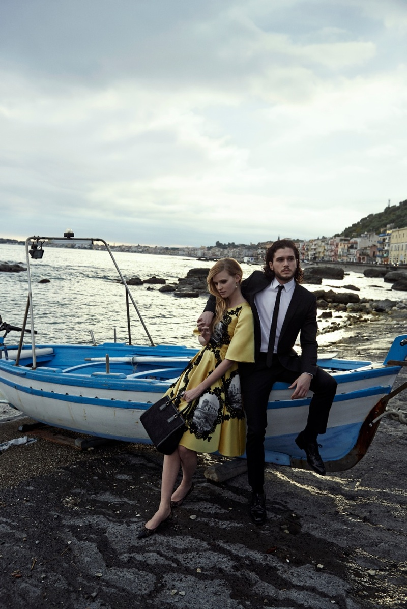 peter lindbergh photographs3 Lara Stone + Kit Harington Cozy Up for Vogue Spread by Peter Lindbergh
