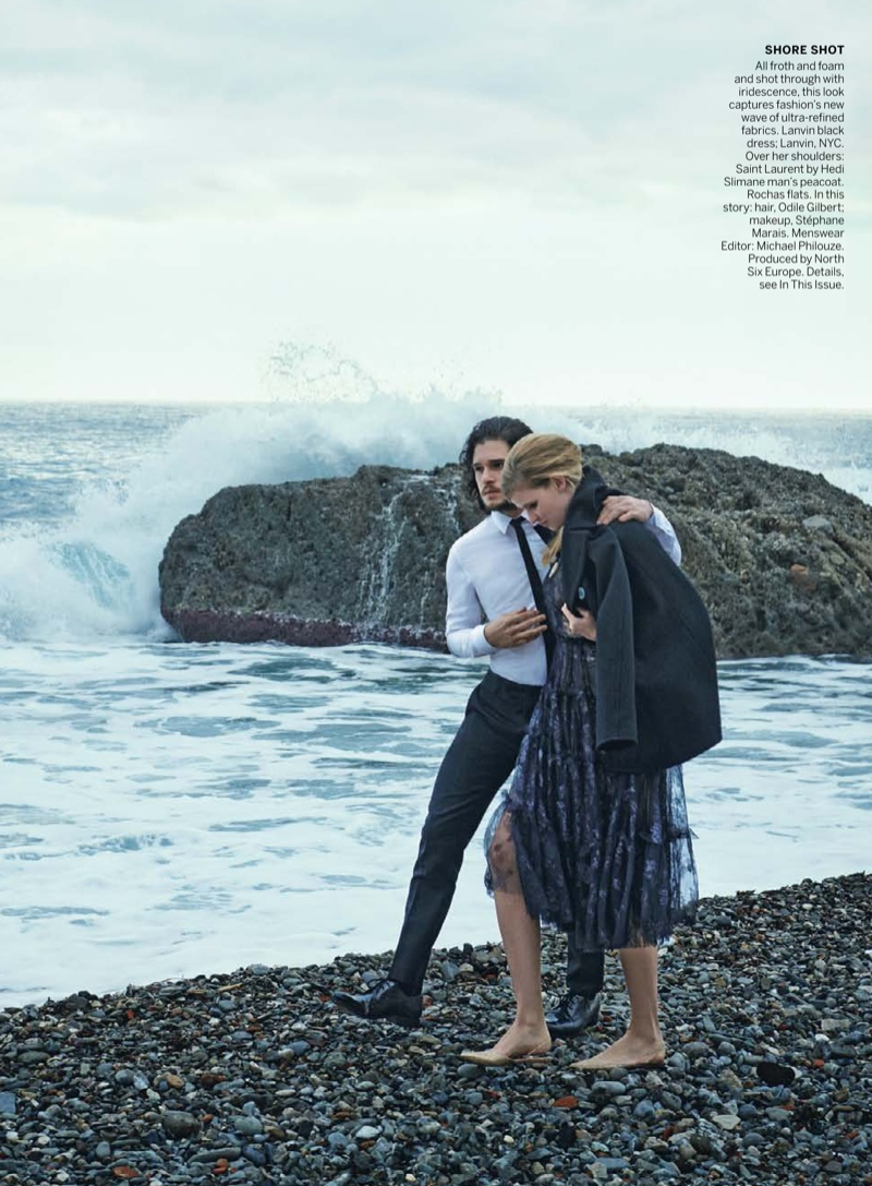 peter lindbergh photographs6 Lara Stone + Kit Harington Cozy Up for Vogue Spread by Peter Lindbergh