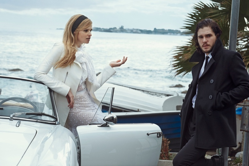 Lara Stone + Kit Harington Cozy Up for Vogue Spread by Peter Lindbergh